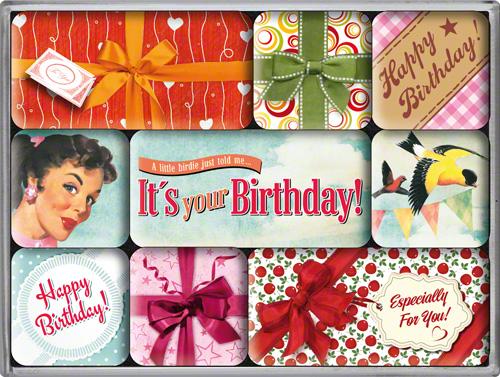 Nostalgic Art Magnetky na ledničku Say It 50's Happy Birthday Set