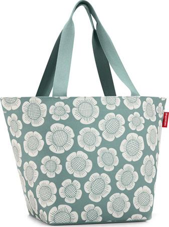 Nákupní taška Reisenthel Modrá s motivem květin | shopper M