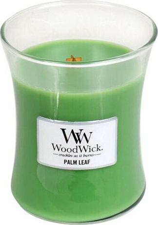 Svíčka oválná váza WoodWick Palmový list, 275 g