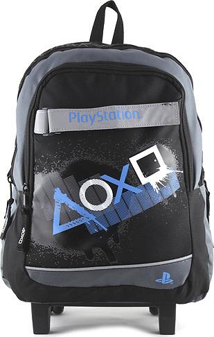 Target Školní batoh trolley PlayStation Bílé modré symboly NW450275 491c402e22
