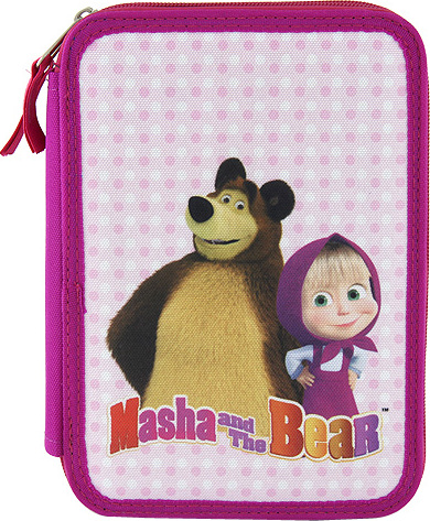 Školní penál s náplní Target Masha and The Bear, růžová