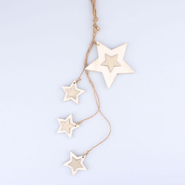 Casa de Engel Dekorace hvězdy | 2 barvy Barva: bílá
