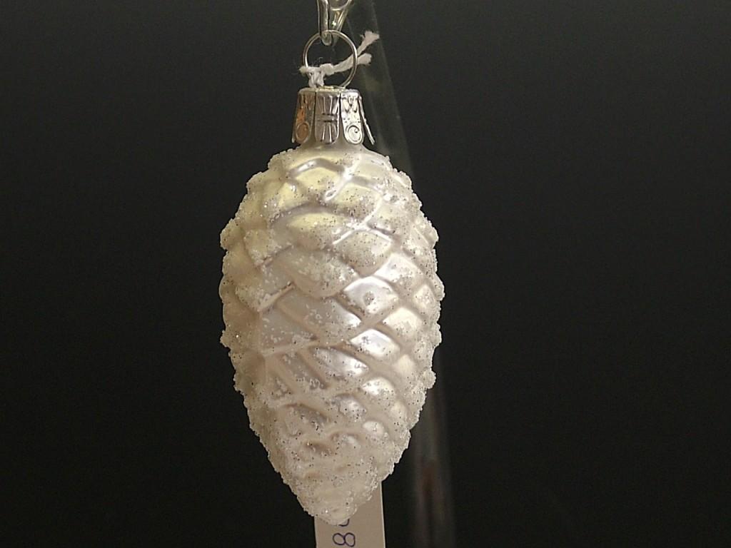 Slezská tvorba Skleněná figurka | šiška střední | bílý mat