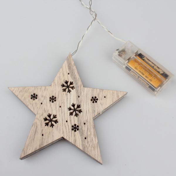 Casa de Engel Vánoční dekorace | svítící hvězda | 15x52x2cm