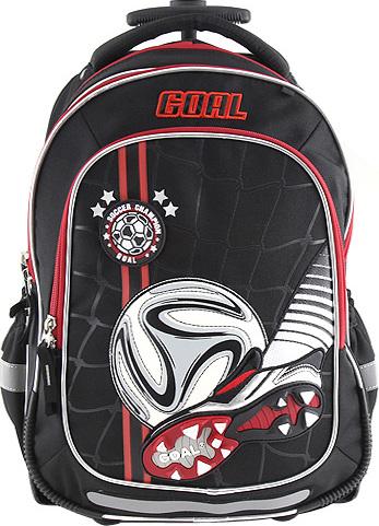 Školní batoh Target 3D kopačka a míč, s kolečky a rukojetí