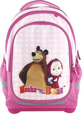 Školní batoh Target Máša a medvěd, růžový