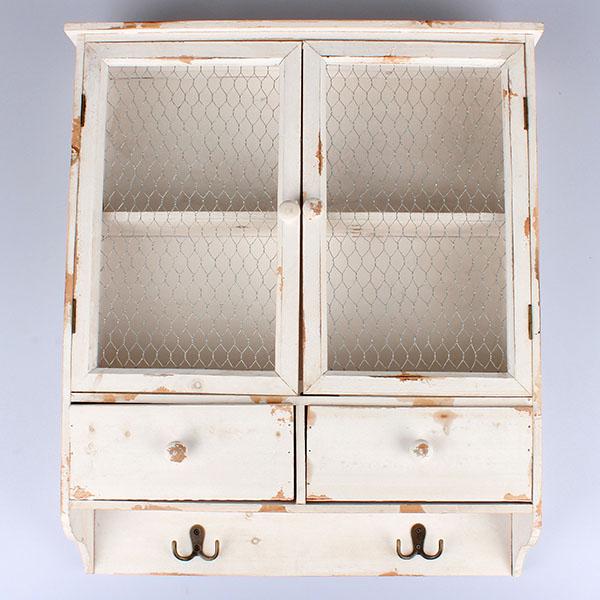 Casa de Engel Skříňka | dřevěná | závěsná | dvě varianty Barva: bílá