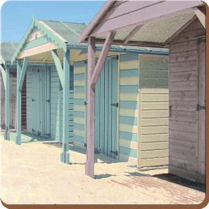 Creative Tops Korkové prostírání Photographic beach Rozměry: 10x10cm - 4ks