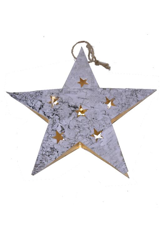 Ego Dekor LED dekorace | vánoční | hvězda | z kůry