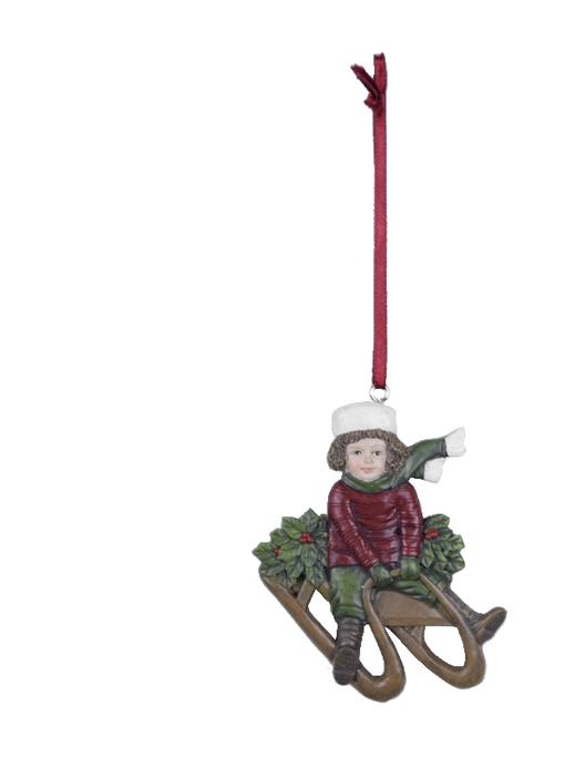 Ego Dekor Dekorace | vánoční | k zavěšení | postavička | sáňky | více barev Barva: červená, Provedení: Kluk EDEGO-470035/CER2