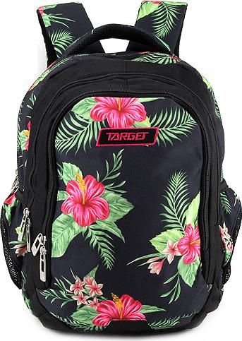 Školní batoh Target Černý s květinami NW2425291 5684d17da7