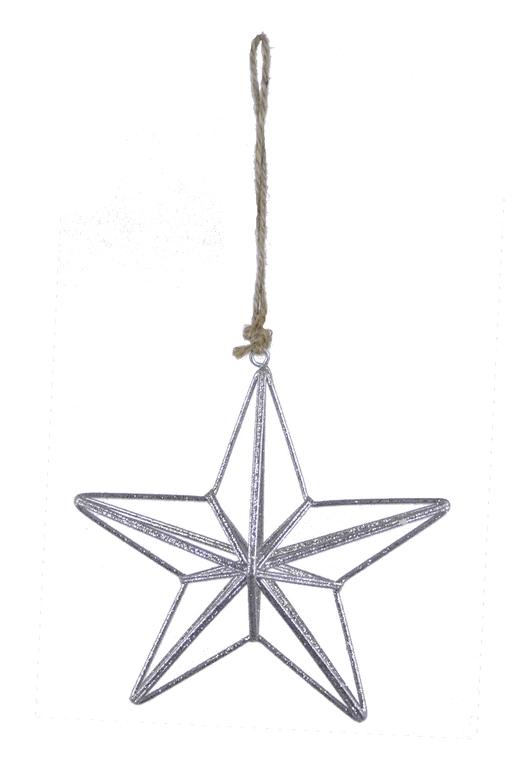 Ego Dekor Vánoční dekorace | hvězda | drátěná | stříbrá