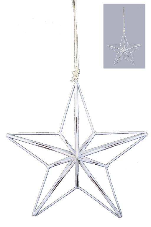 Ego Dekor Vánoční dekorace | hvězda | drátěná | bílá