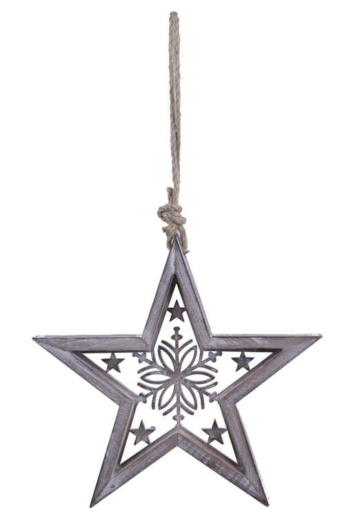 Ego Dekor Vánoční dekorace | hvězda | dřevěná
