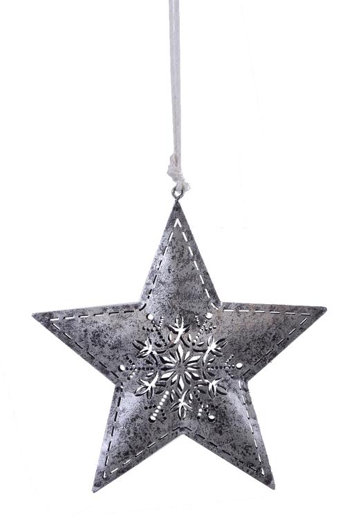 Ego Dekor Vánoční dekorace | hvězda | k zavěšení | s vločkou