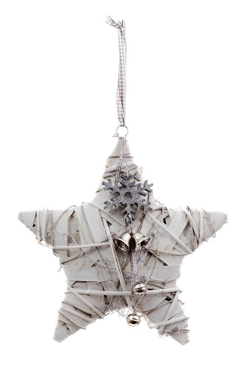 Ego Dekor Vánoční dekorace | hvězda | s vločkou a rolničkou