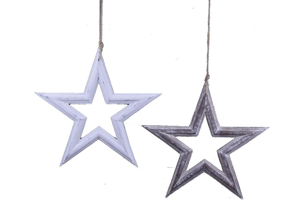 Ego Dekor Vánoční dekorace | hvězda | dřevo | více barev a velikostí Barva: světlá, Provedení: Menší