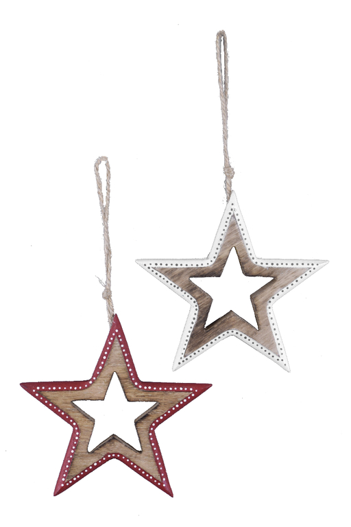Ego Dekor Vánoční dekorace | hvězda | s barevným okrajem | více barev Barva: bílá