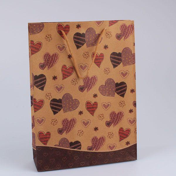 4c40bac29 Casa de Engel Papírová taška se srdíčky | varianty | sada 12 ks Provedení: A