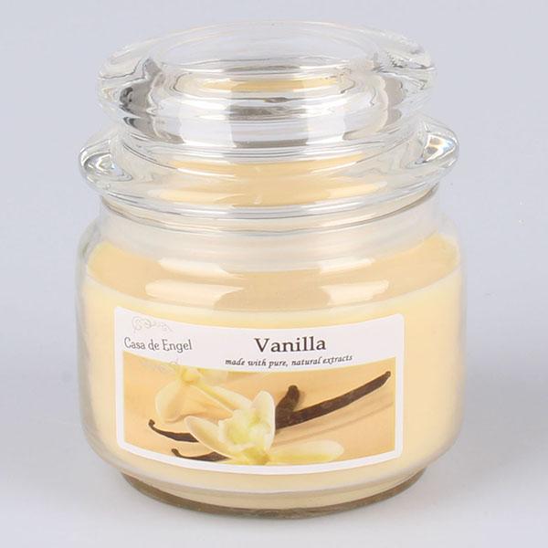 Casa de Engel Vonná svíčka ve skle se skleněným víčkem Vanilka 210g