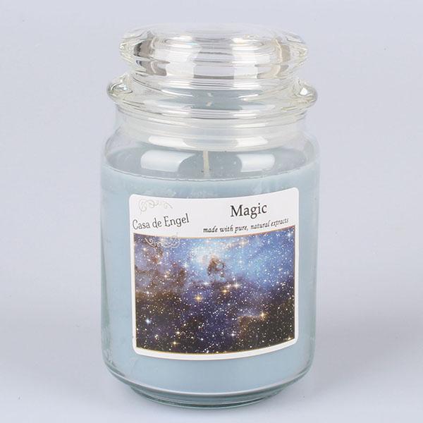 Casa de Engel Vonná svíčka ve skle se skleněným víčkem Magie 460g