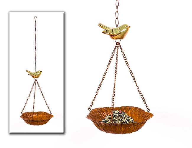 DENK GESCHENKE Krmítko pro ptáčky | závěsné | 16x52cm | kov