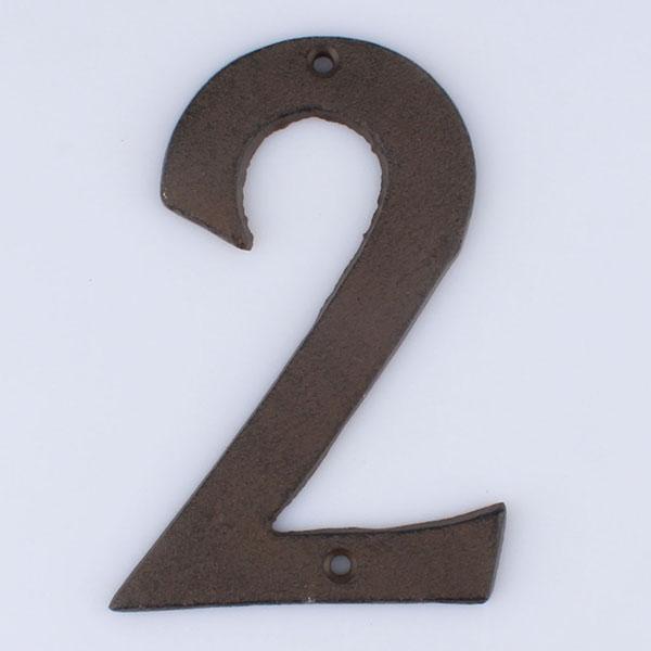 Casa de Engel Domovní číslo na fasádu | č.2 | 17x11 cm