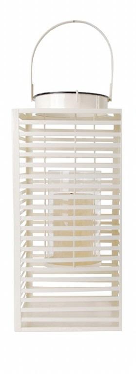 ESSCHERT DESIGN Lucerna hranatá bílá 18x23x40cm
