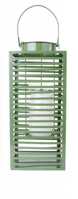 ESSCHERT DESIGN Lucerna hranatá zelená 18x23x40cm