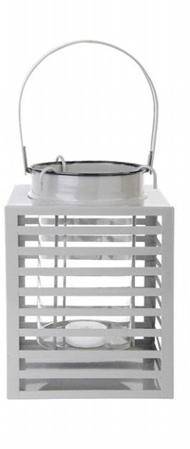 ESSCHERT DESIGN Lucerna hranatá šedá 15x19x20cm
