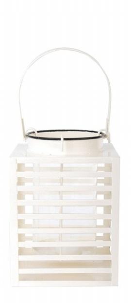 ESSCHERT DESIGN Lucerna hranatá bílá 15x19x20cm