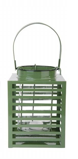 ESSCHERT DESIGN Lucerna hranatá zelená 15x19x20cm