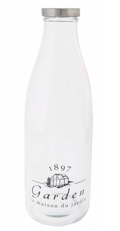 ESSCHERT DESIGN Skleněná lahev na mléko 9x9x27cm I