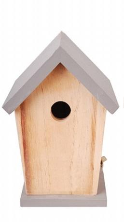 ESSCHERT DESIGN Dřevěná ptačí budka šedá 15x13x21cm