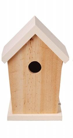 ESSCHERT DESIGN Dřevěná ptačí budka bílá 15x13x21cm