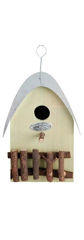 Ptačí budka dřevěná zelená 15x22,2x20cm III