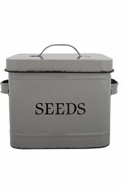 ESSCHERT DESIGN Dóza na semena šedá 24x16,5x17,6cm