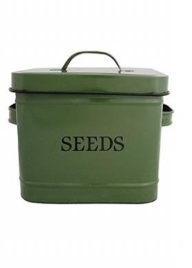 ESSCHERT DESIGN Dóza na semena zelená 24x16,5x17,6cm