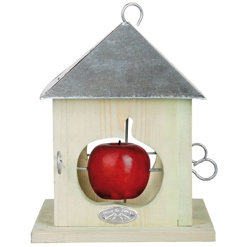 ESSCHERT DESIGN Krmítko pro ptáky na 4 jablíčka 18x18x23cm