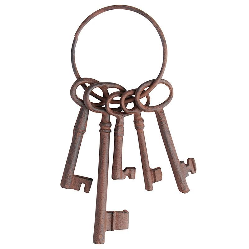 ESSCHERT DESIGN Litinové klíče svazek dekorativní 22,5cm