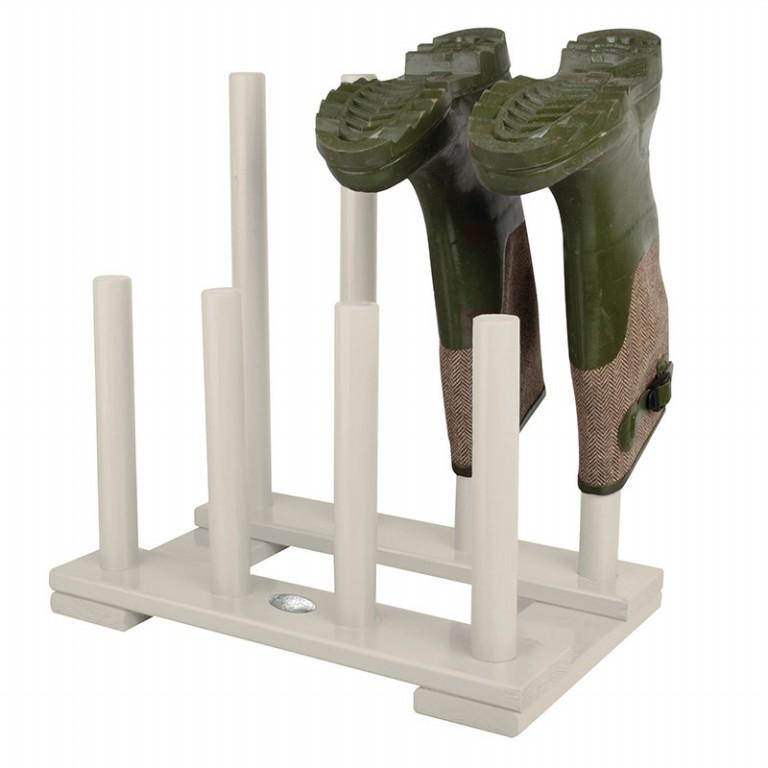 ESSCHERT DESIGN Dřevěný stojan na boty Barva: bílá