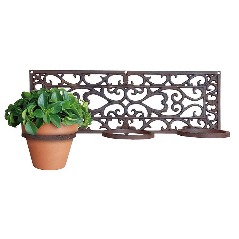 ESSCHERT DESIGN Litinový držák na 3 květináče 51,4x17,7cm