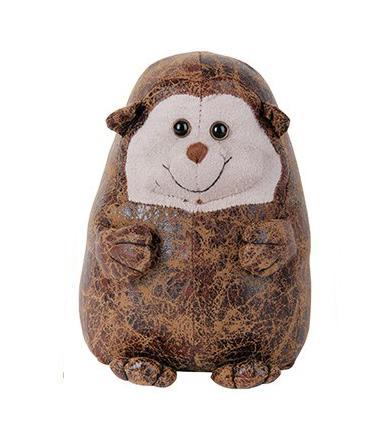 Zarážka na dveře kožená ježek 16,5x13,7x22cm