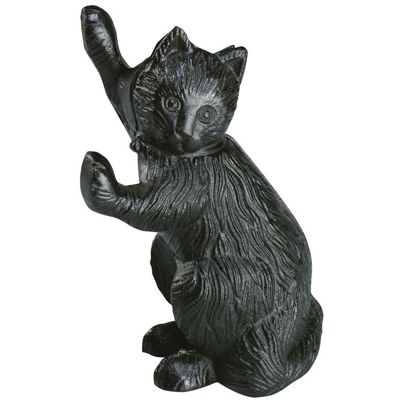 Zarážka na dveře litina kočka 13,6x9,7x21,5cm