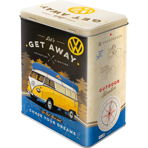 Nostalgic Art Dóza na potraviny VW Let's Get Away 14x20cm Rozměry: 14x20cm