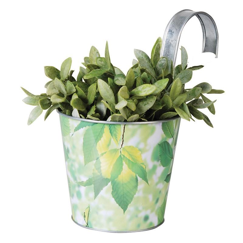 ESSCHERT DESIGN Květináč plechový Listy závěsný 16,3x26,5x26cm