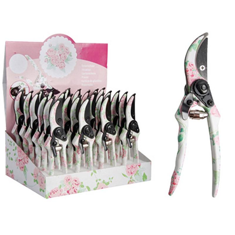 ESSCHERT DESIGN Zahradní nůžky Růžový květ 20,4x27,5x33,6cm