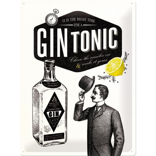 Nostalgic Art Plechová cedule GIN TONIC Rozměry: 30x40cm