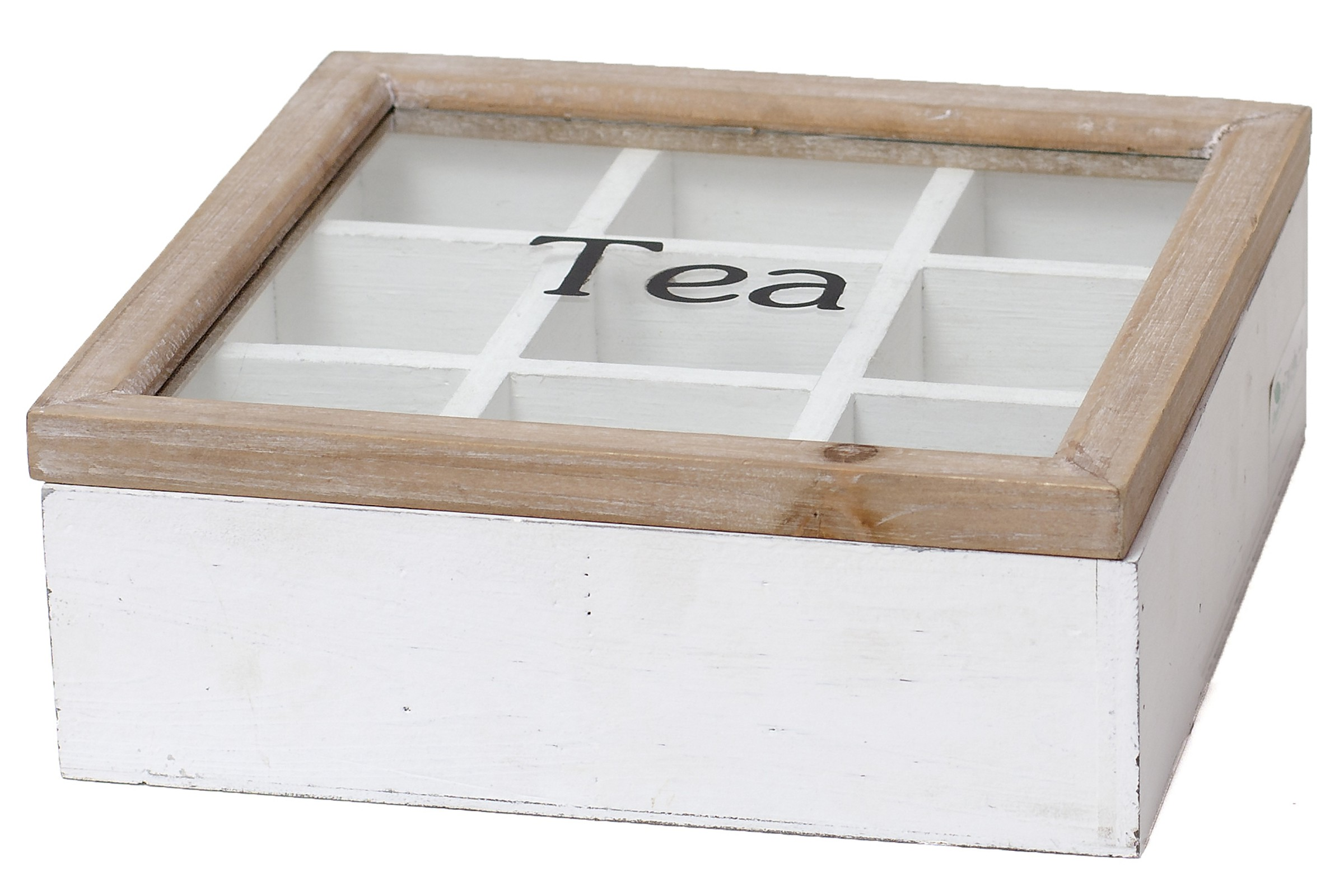 Krabička na čaj Tea bílá 22x8x22cm