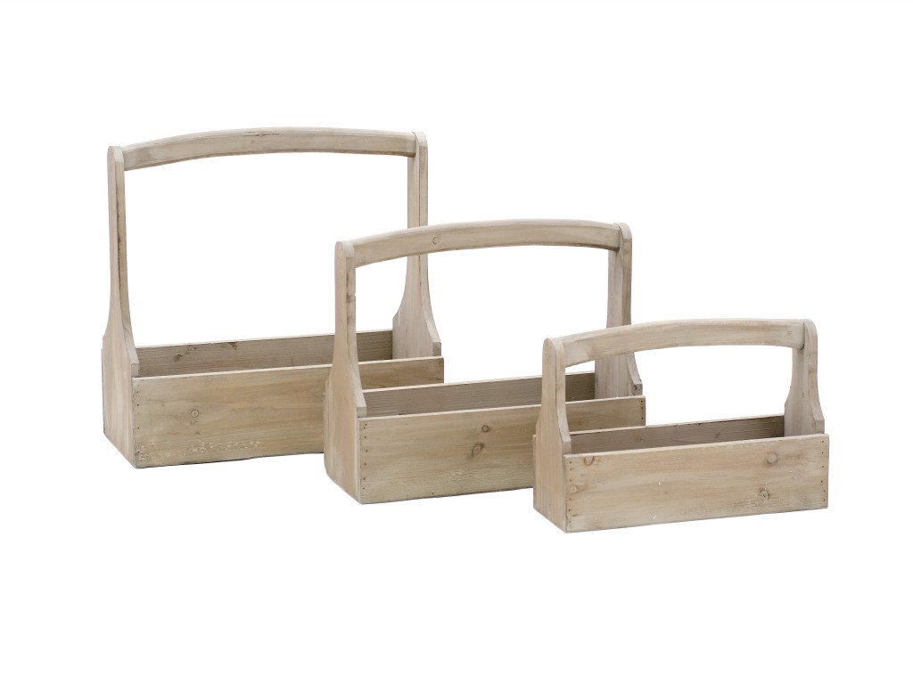 Přepravky na nářadí dřevěné set 3ks